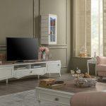 Enza beyaz tv ünitesi dekorasyonu veronica