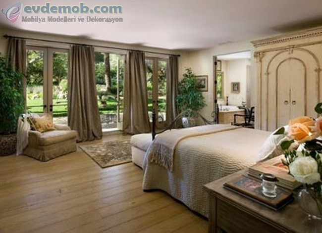 Geniş Yatak Odası İçin Dekorasyon Fikirleri 1
