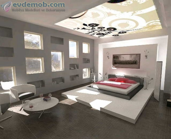 Geniş Yatak Odası İçin Dekorasyon Fikirleri 3