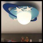 Gezegen şeklinde avize çocuk odası
