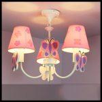 Kız çocuk odası avizeleri pembe