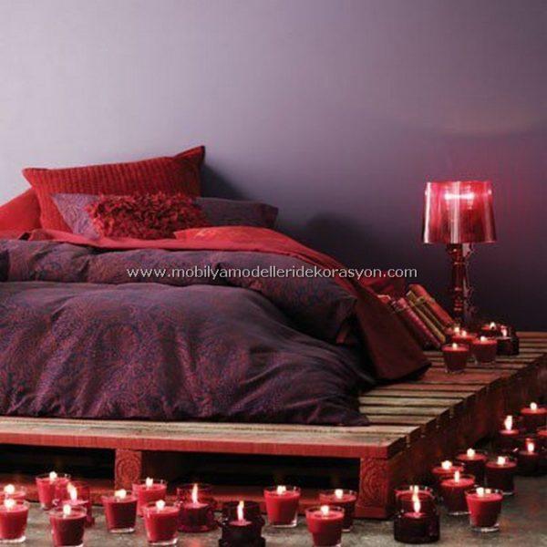 Romantik yatak odası dekorasyonu 0