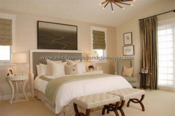 Romantik yatak odası dekorasyonu 1