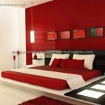 Romantik yatak odası dekorasyonu 12