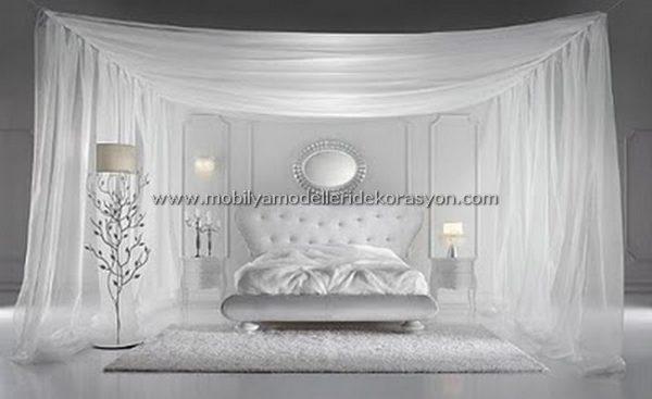 Romantik yatak odası dekorasyonu 3