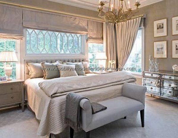 Romantik yatak odası dekorasyonu 5