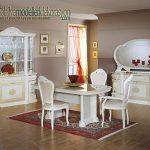 Vintage beyaz yemek odası takımı