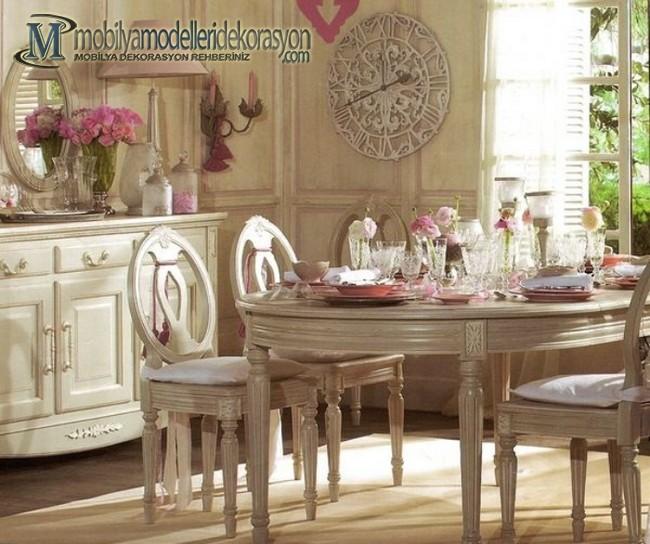 Vintage Yemek Odası Modelleri 8