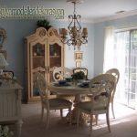 Vintage eski görünümlü yemek odası modeli