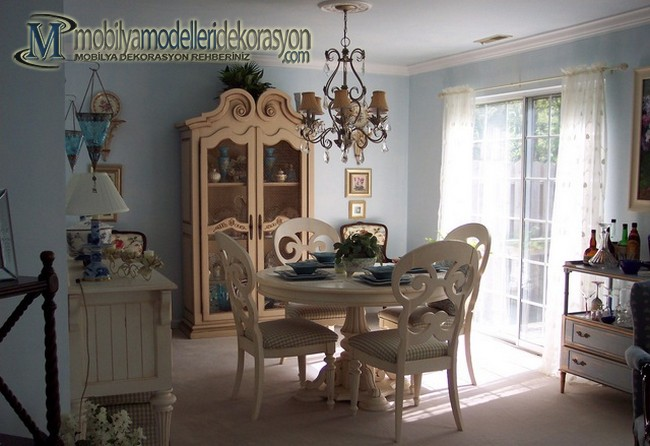 Vintage Yemek Odası Modelleri 9