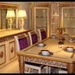 Klasik italyan tarzı yemek odası