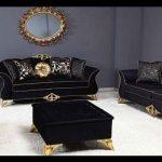 Klasik siyah koltuk takımı modelleri