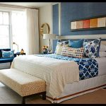 Mavi yatak odası kombini