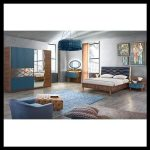 Mavi yatak odası modelleri