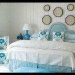 Mavi yatak odası tasarımı
