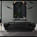 Modern siyah oda dekorasyonu