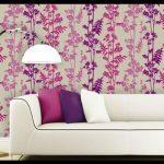 Pembe mor duvar kağıdı desenleri