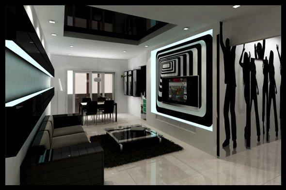 Siyah dekorasyon modelleri