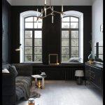 Siyah oturma odası modelleri