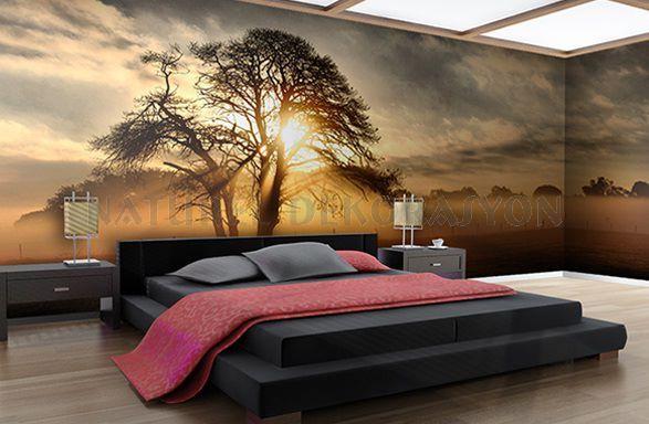 3 boyutlu afrika temalı duvar kağıdı