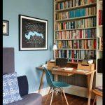 Çalışma odası mavi duvar