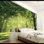 Üç boyutlu duvar kağıdı yatak odası