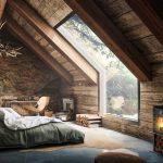 Çatı katı tarzı tarzı yatak odası takımı