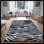6 m2 siyah beyaz halı modelleri