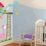 Bebek odası hayvanlı duvar süsü modeli