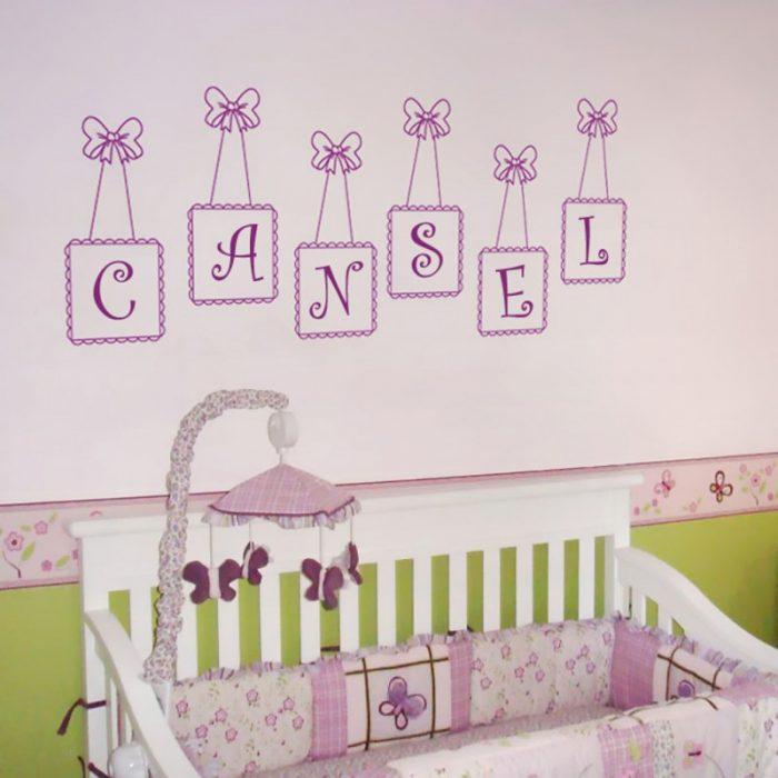 Bebek odası isimli yapıştırma