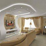 Dekoratif led salon tavan aydınlatma