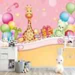 Bebek odası hayvanlı duvar yapıştırmaları
