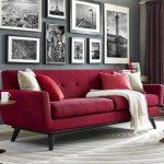 Kırmızı mobilya dekorasyonu