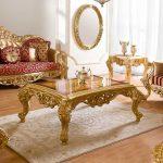 Klasik altın varaklı koltuk takımları