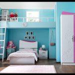 Mavi renk genç odası dekorasyonu