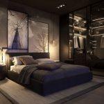 Siyah yatak odası mobilyaları