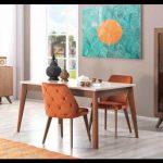 Yeni vintage yemek odası