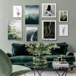Yeşil mobilya dekorasyonu