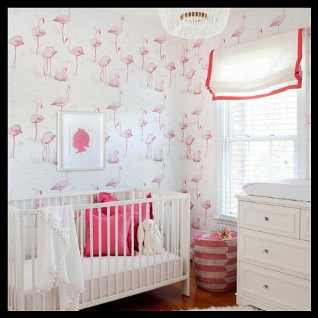 Bebek odası duvar kağıdı modelleri