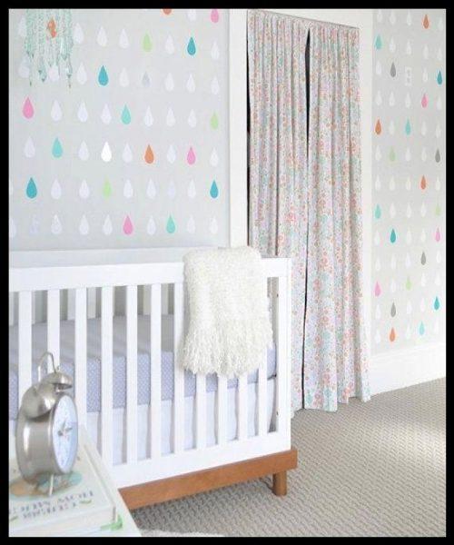 En güzel bebek odası duvar kağıdı