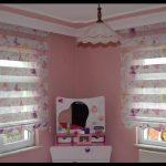 Kız çocuk odası stor perde