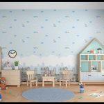 Çocuk odası duvar kağıdı uygulama