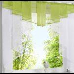 Mutfak tül perdeleri yeşil