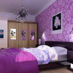 Mor yatak odasi dekorasyon fikirleri