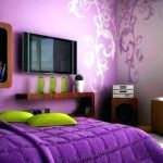 Mor yatak odasi tasarim fikirleri