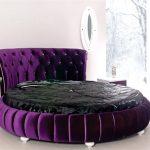 Mor yuvarlak yatak odasi tasarimi