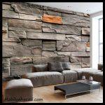 Salon taş duvar kağıdı örnekleri
