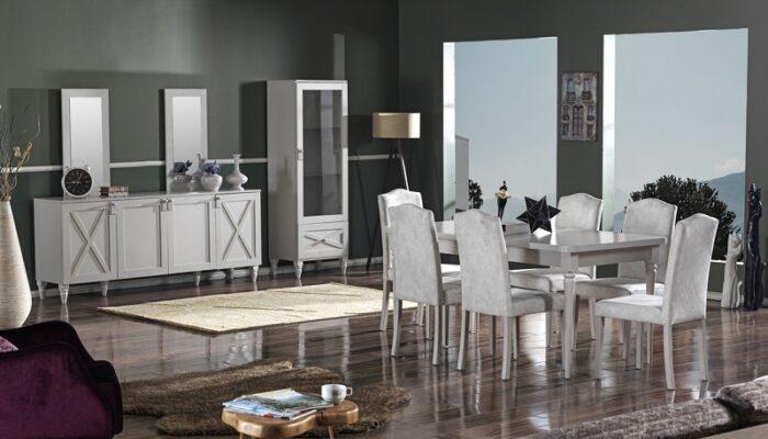 perm ipek mobilya yemek odası takımı