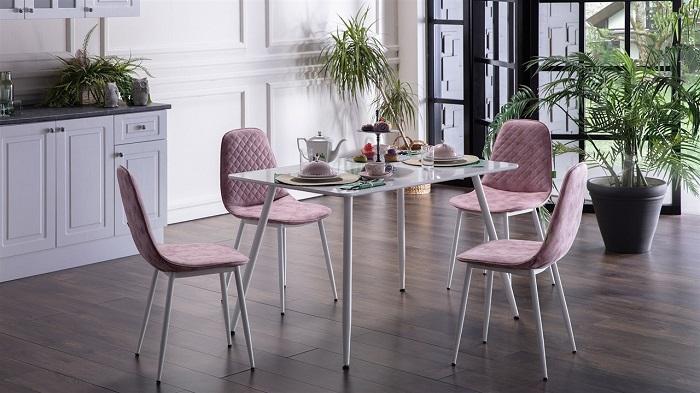 silva mondi beyaz mutfak masa sandalye takımı